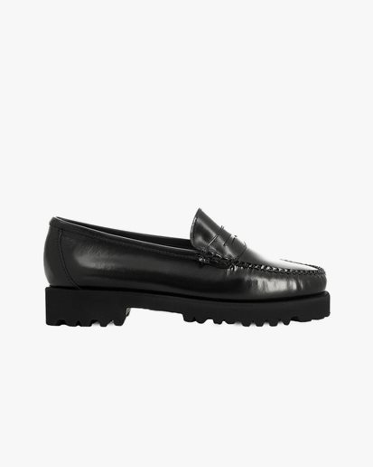 G.H. Bass Weejuns 90s Penny Loafers Black Leather