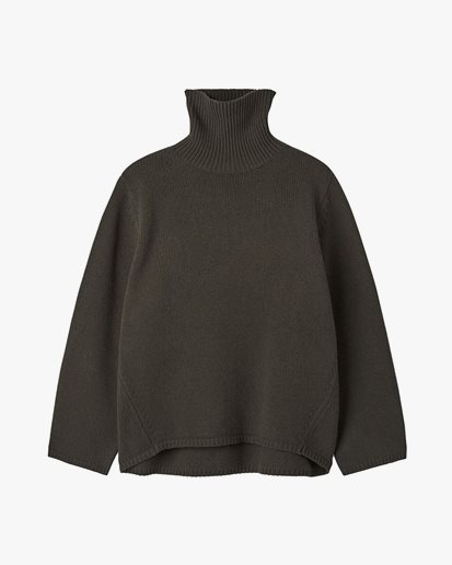 Toteme Wool Cashmere Turtleneck Forest
