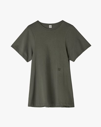 Toteme Curved Seam Tee Forest