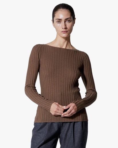 House Of Dagmar Winslet Knitted Top Nocciola