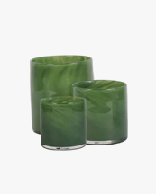 Tell Me More Lyric Candle Holder Dark Green