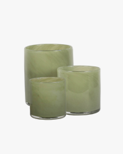Tell Me More Lyric Candle Holder Olive Green