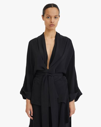 Rodebjer Tennessee Twill Blouse Black