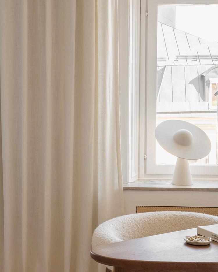Gotain Curtain Woven Linen Bone White