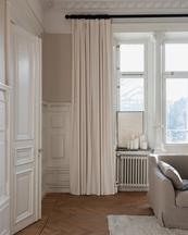 Gotain Curtain Velvet Bone White