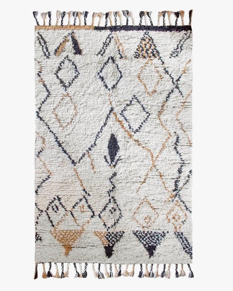 Layered Modern Oriental Rug Saffron