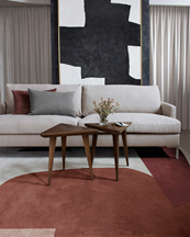 Layered Scandi Collection Rug Cloudberry