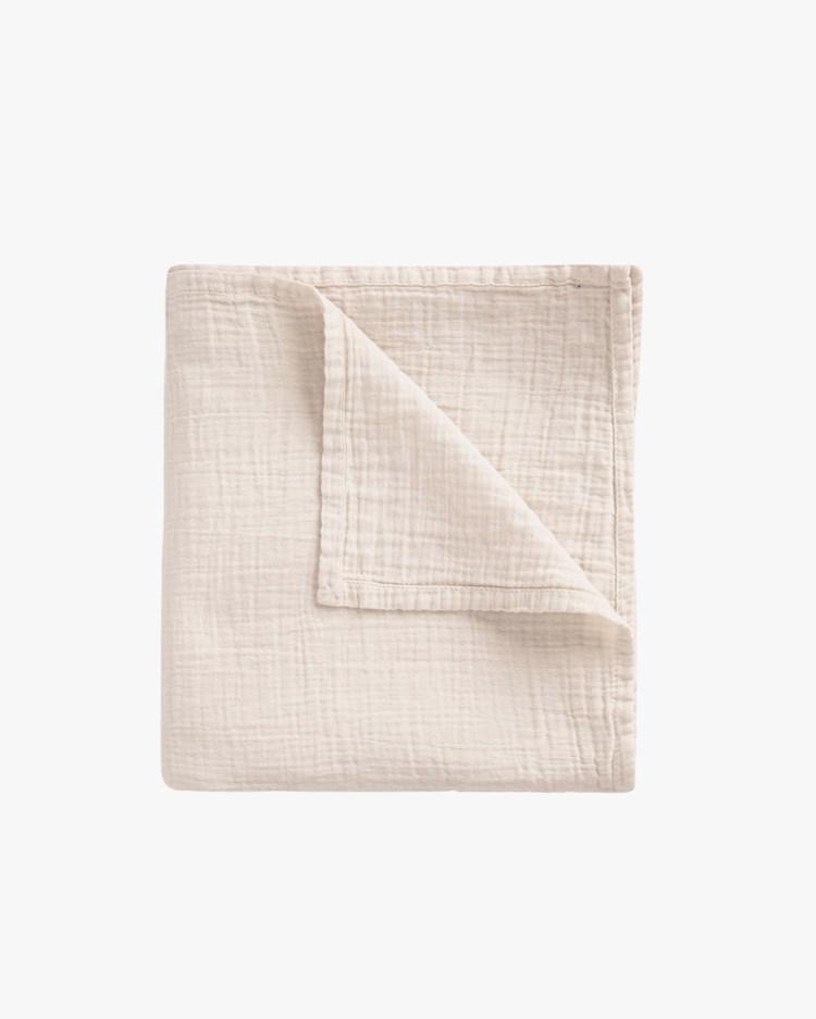 Garbo & Friends Muslin Swaddle Blanket Eggshell