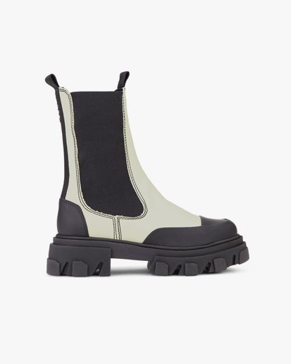 Ganni Mid Chelsea Boots Oyster Gray