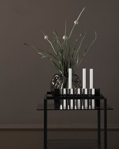 New Works Ripply Candle Holder Stainless Steel
