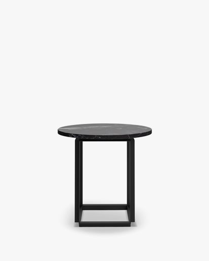 New Works Florence Side Table Black Marquina