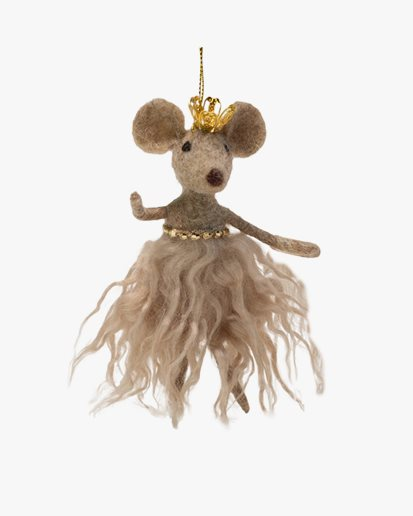 Olsson & Jensen Christmas Decoration Mouse With Crown
