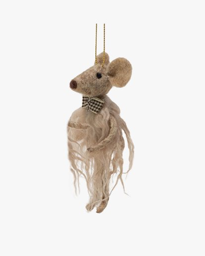 Olsson & Jensen Christmas Decoration Mouse With Bow Tie