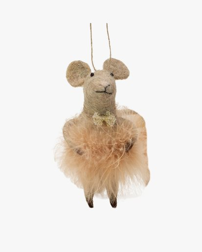 Olsson & Jensen Christmas Decoration Mouse With Feather Bottom