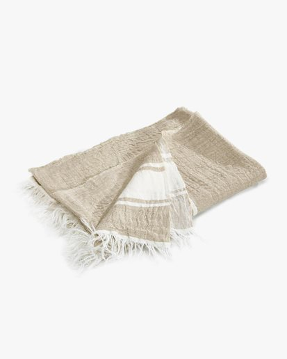 Libeco The Belgian Towel Guest Flax Stripe