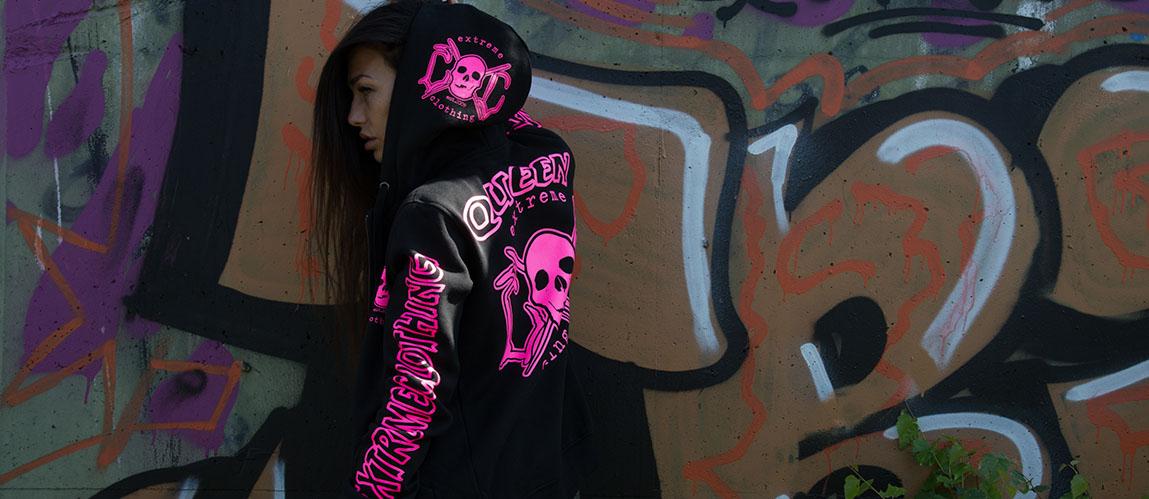Queen hoodie rosa