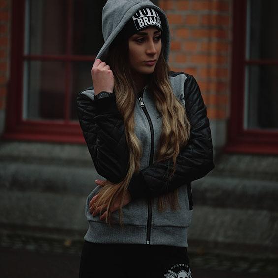 Black N Grey Hoodie
