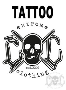 eXc Skull Logo Tattoo 5cm