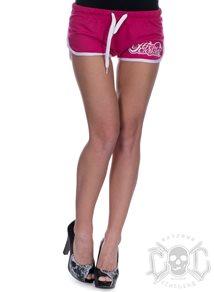 eXc Skull Logo Shorts, Rosa