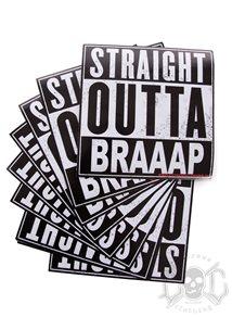 eXc Straight Outta Braaap Sticker 15X15cm