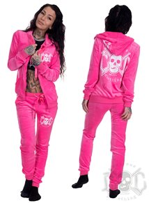 eXc Skull Dress Pink & White