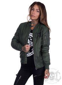 eXc Skull Bomber Jacket, Army