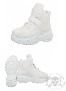 Mix From Italy High Sneakers, White