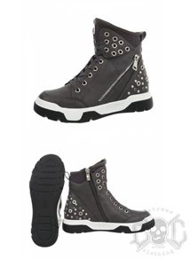 Mix From Italy Studs High Shoes, Grey