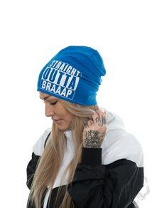 eXc Straight Outta Braaap Beanie, Sapphire Blue