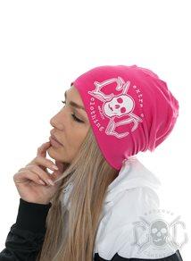 eXc Skull Logo Beanie, Pink