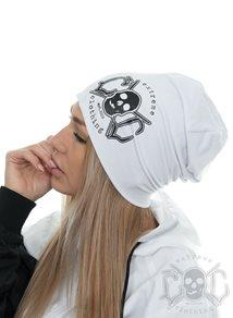 eXc Skull Logo Beanie, Vit