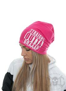 eXc Straight Outta Braaap Beanie, Pink
