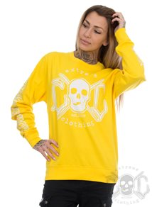 eXc E A F Unisex Sweatshirt, Yellow