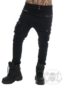 eXc Baggy Cargo Pants, Black