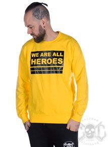 eXc We Are All Heroes Sweatshirt Unisex, Gul