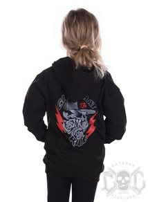 eXc Girls That Ride Kids Zip Hoodie, Black