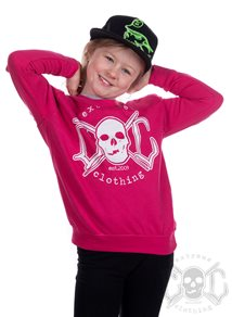 eXc Skull Kids Sweatshirt, Pink