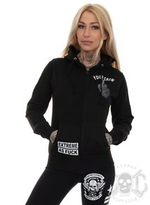 eXc Your Crew Women Zip Hoodie, Black