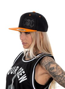 eXc Skull Snapback, Black/Orange