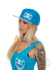 eXc Skull Snapback, Blue/White