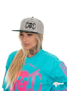 eXc Skull Snapback, Light Grey/Black