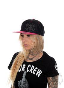 eXc Skull Snapback, Black/Pink