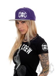eXc Skull Snapback, Purple/Grey