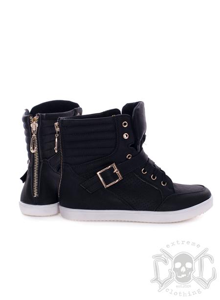 Gold Zipper Shoes, Svarta