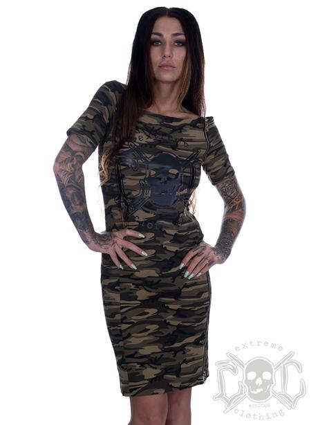eXc Zipped Camo Dress