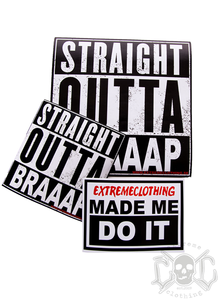 eXc 3 pack eXtremeclothing Stickers