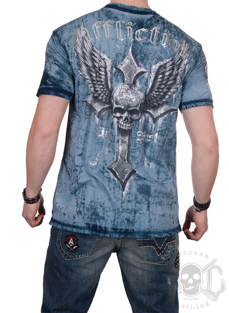 Affliction Wicked Tee, Blue