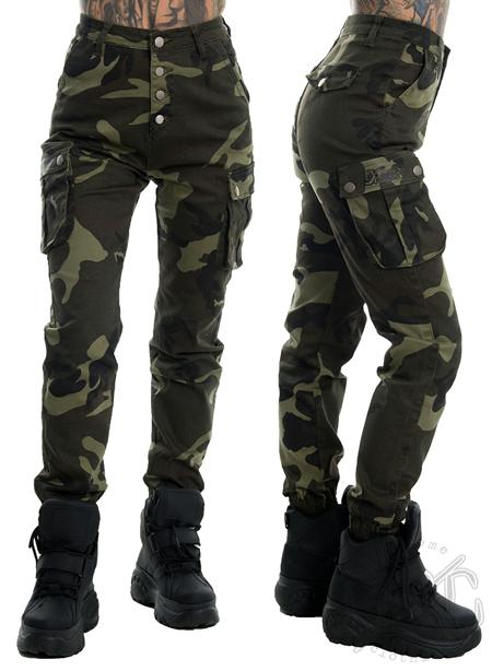 eXc High Waist Camo Cargo Pants