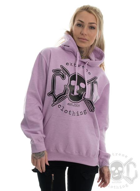 eXc Skull Logo Hoodie, Surf Purple