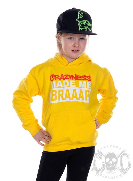 eXc Craziness Kids Hoodie, Yellow